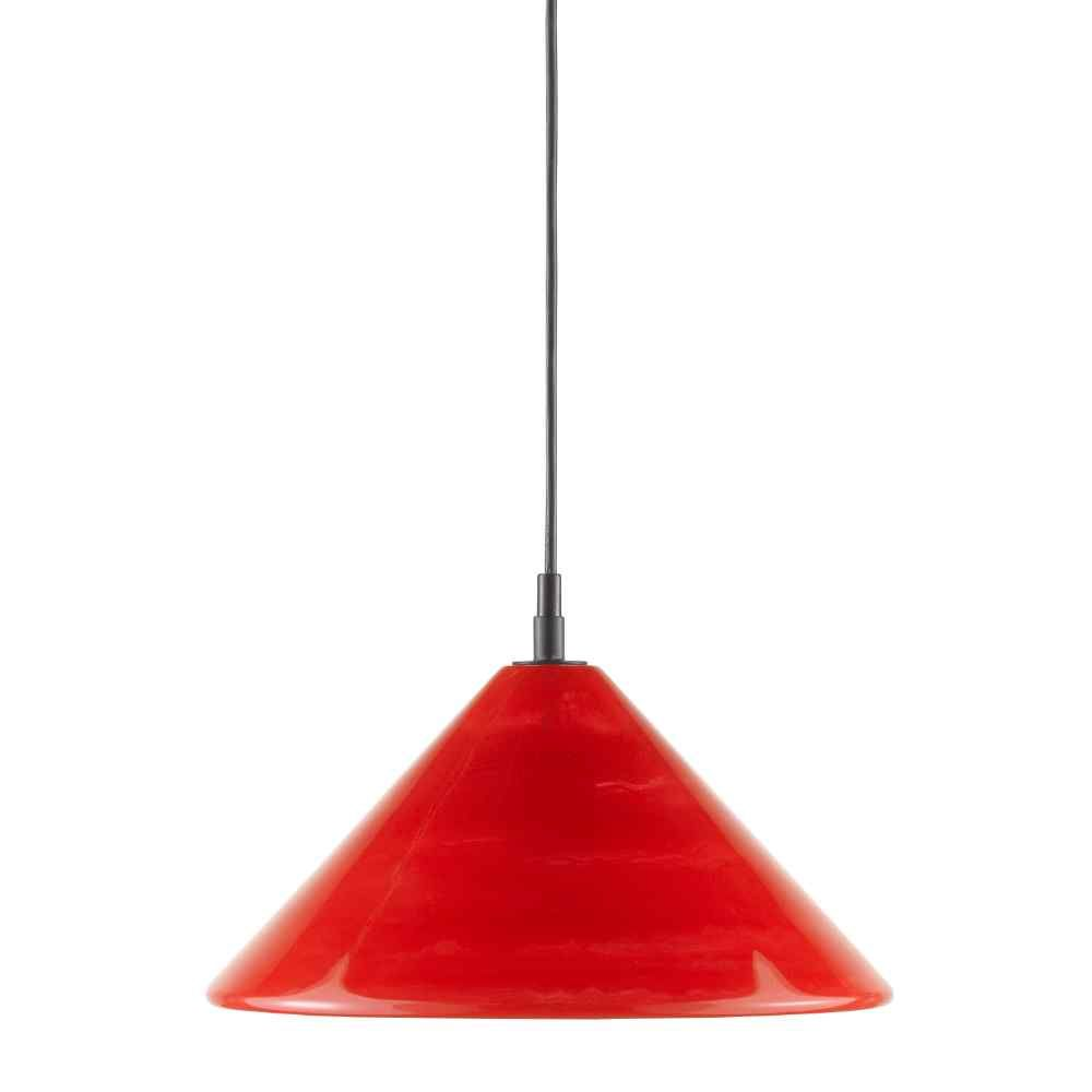 Satin Black Marbelized Red Conti Pendant