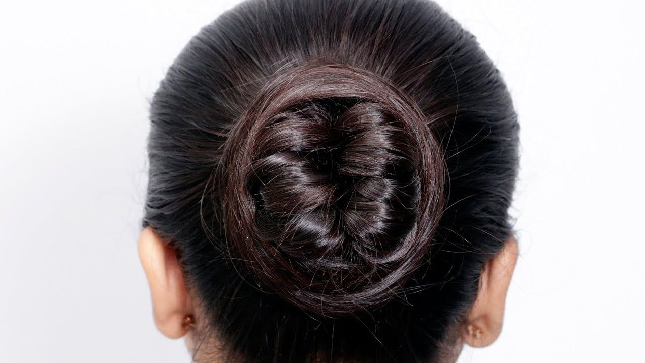 Very Easy Juda Hairstyle For Wedding And Party | Trending Hairstyle | Bu... | Bun hairstyles ...