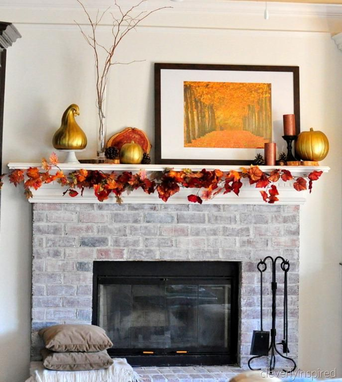 Decorating Ideas For Painting My Living Room Fall Mantel Decor Decorative Mantels 687x768 Modern Victorian Home & Decorating Ideas For Painting My Living Room Fall Mantel Decor ...