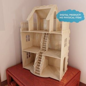 Vector projects for CNC router and laser cutting Beautiful wooden Castle toy plans Play castle Stronghold