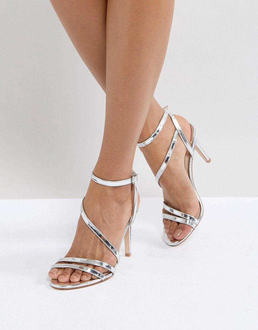 free shipping wiki Faith Delly Silver Heeled Sandals new sale online largest supplier how much sale online outlet how much LoJypzNdA
