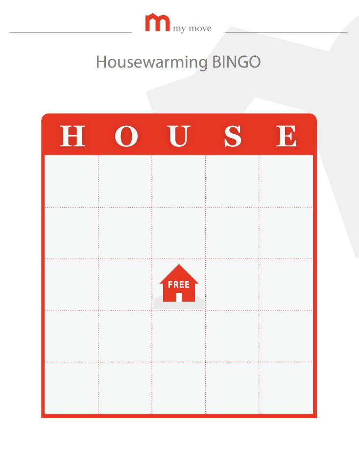 Printable housewarming games! And lots of housewarming ideas inc