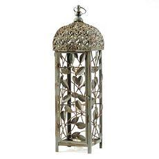 Antique Green Metal Latern at Kirkland's | Metal lanterns ... on Lanterns At Kirklands id=62173