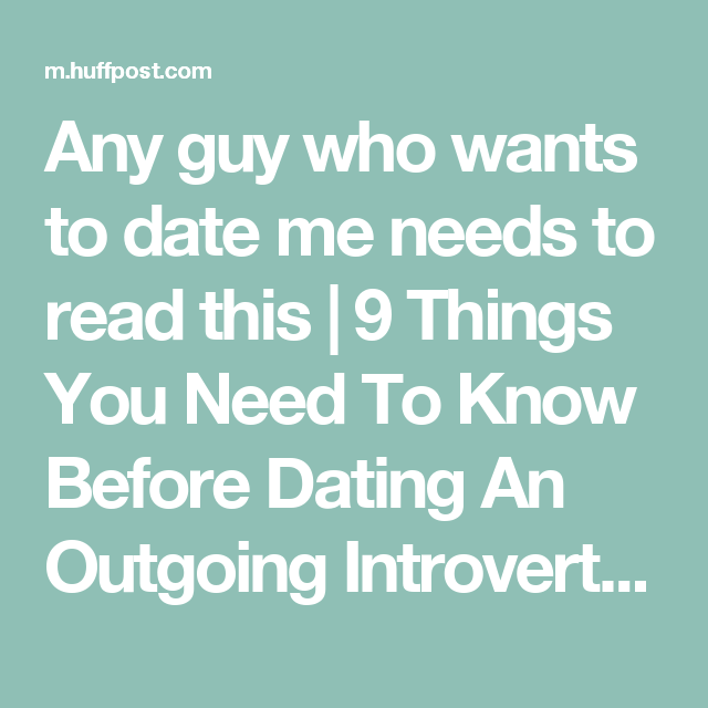 things you should know before dating guy