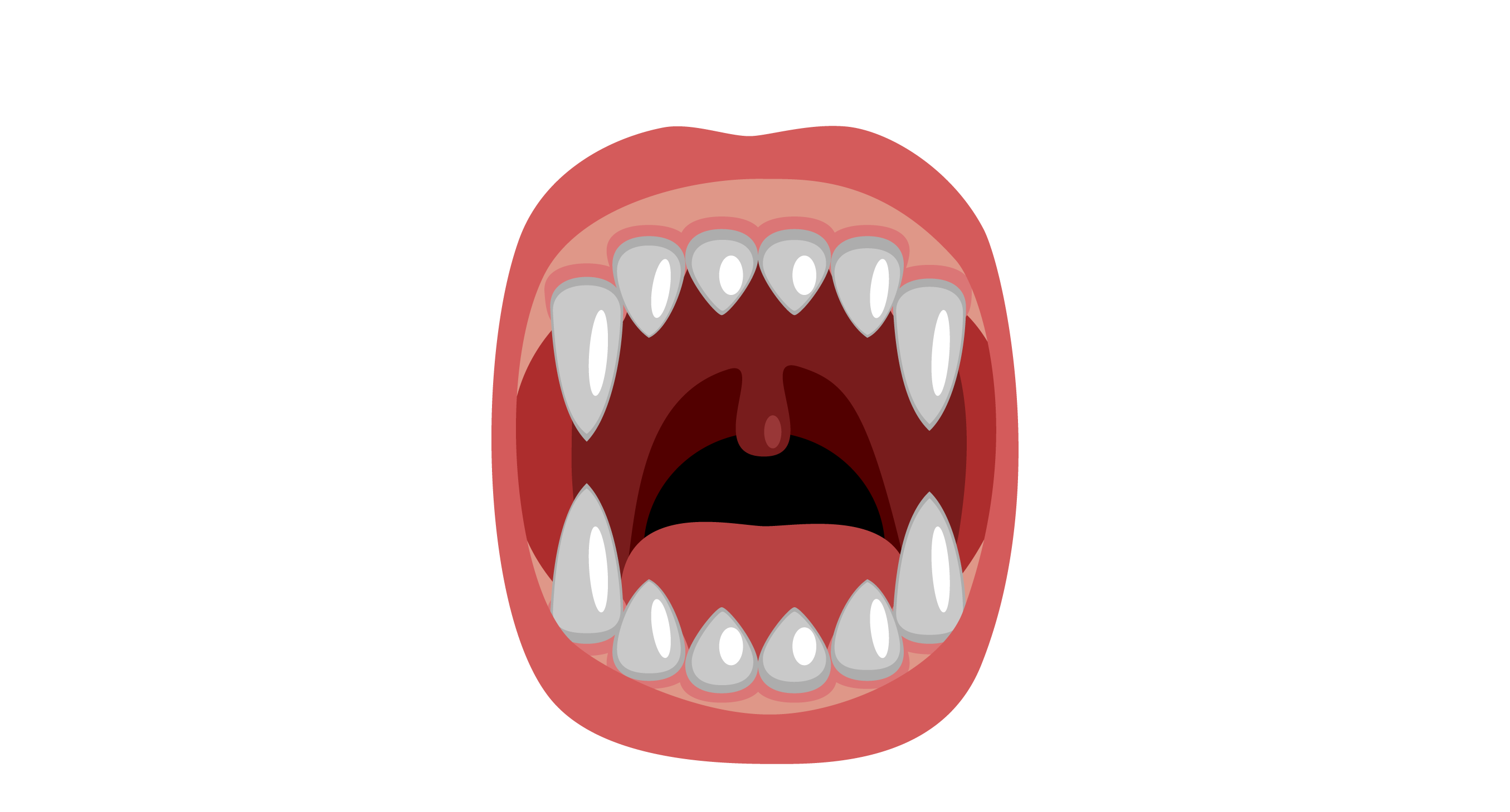 Scary Mouth With Fangs Classic Round Sticker Zazzle Com In 2021 Lip Drawing Funny Items Teeth Drawing