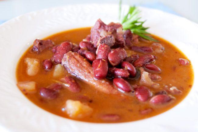 Potaje de alubias rojas con costilla de cerdo y chorizo legumbres pinterest - Alubias rojas con costilla ...