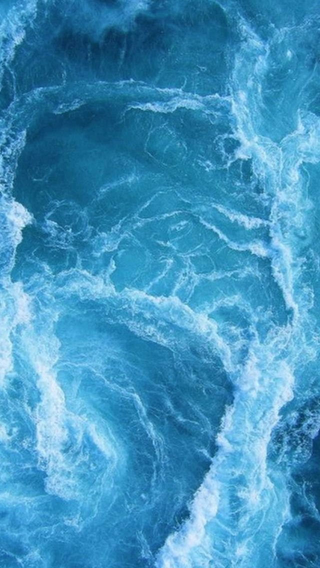 Swirling Blue Ocean Waves Iphone Wallpapers Blue Wallpaper