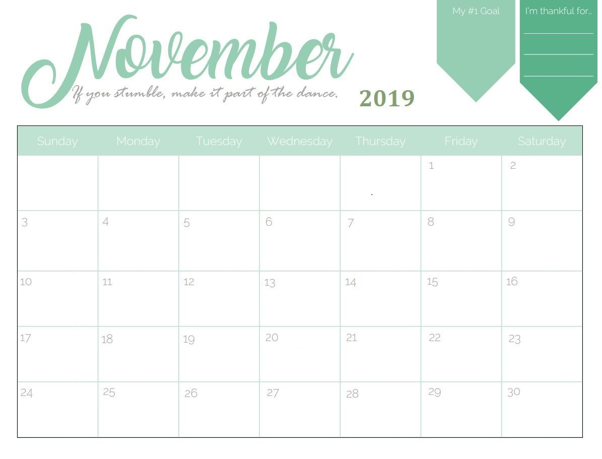 Monthly Desk Calendar 2019 Printable Calendar March Printable