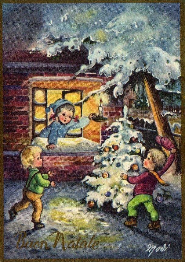 Decorazioni Natalizie Anni 70.Miss Jane Christmas Cards Deer Collection Vintage Christmas