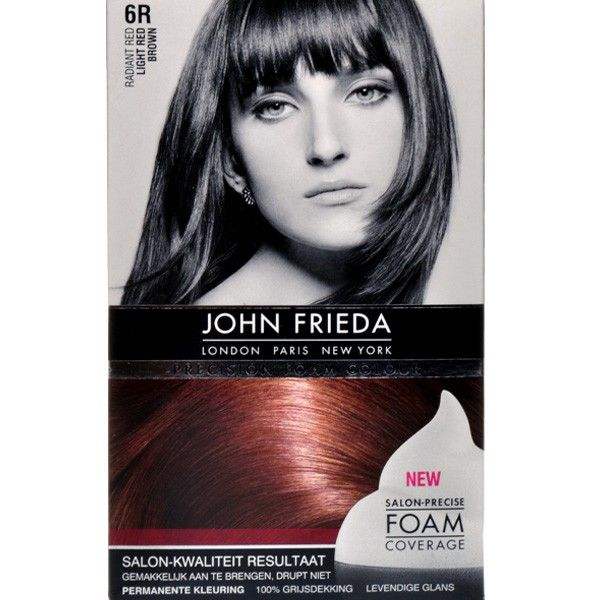 John Frieda Precision Foam Colour 6r Radiant Red Light Red Brown