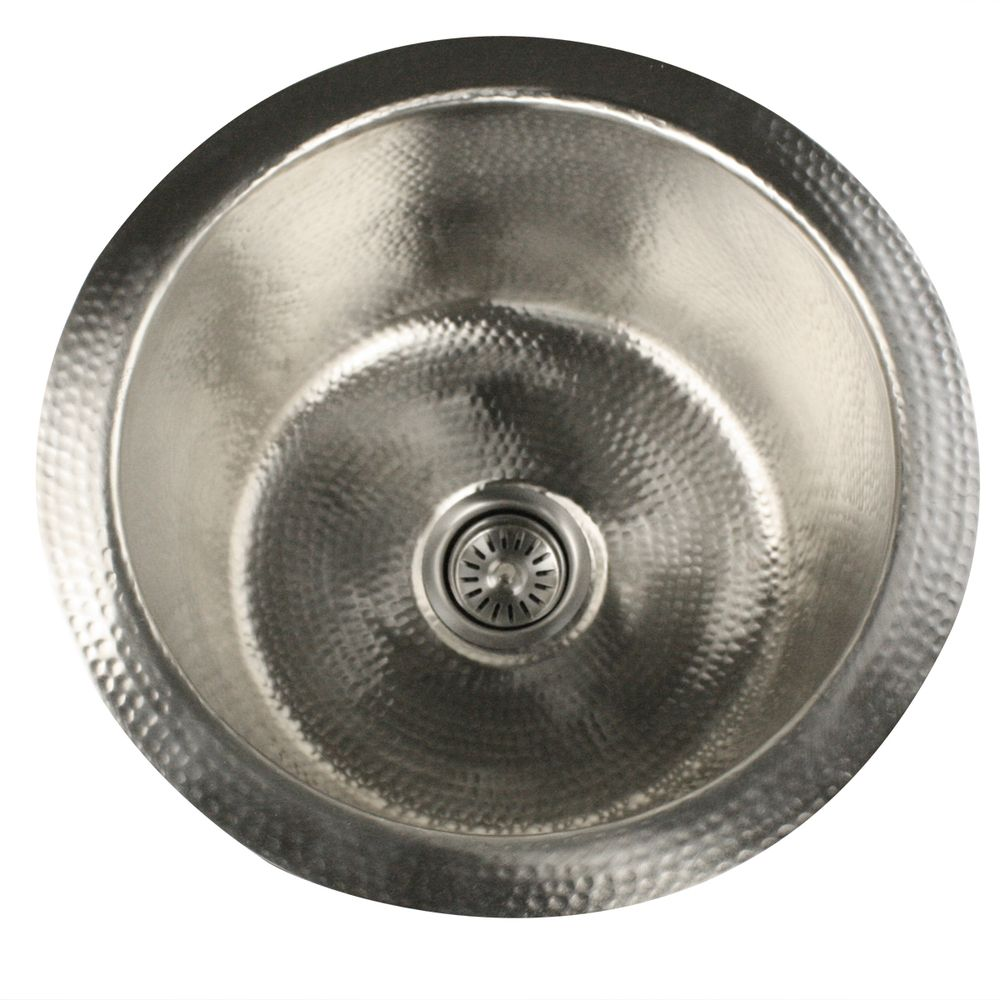 $250 Highpoint Collection Round Hammered Undermount Bar / Prep Sink In  Satin Nickel | Overstock.