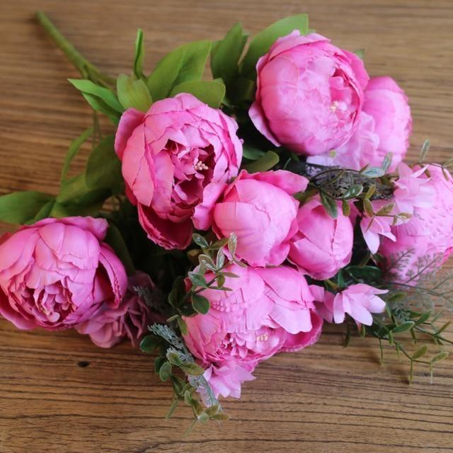 Photo of Peonies Flower Set – Fushia / Bundle