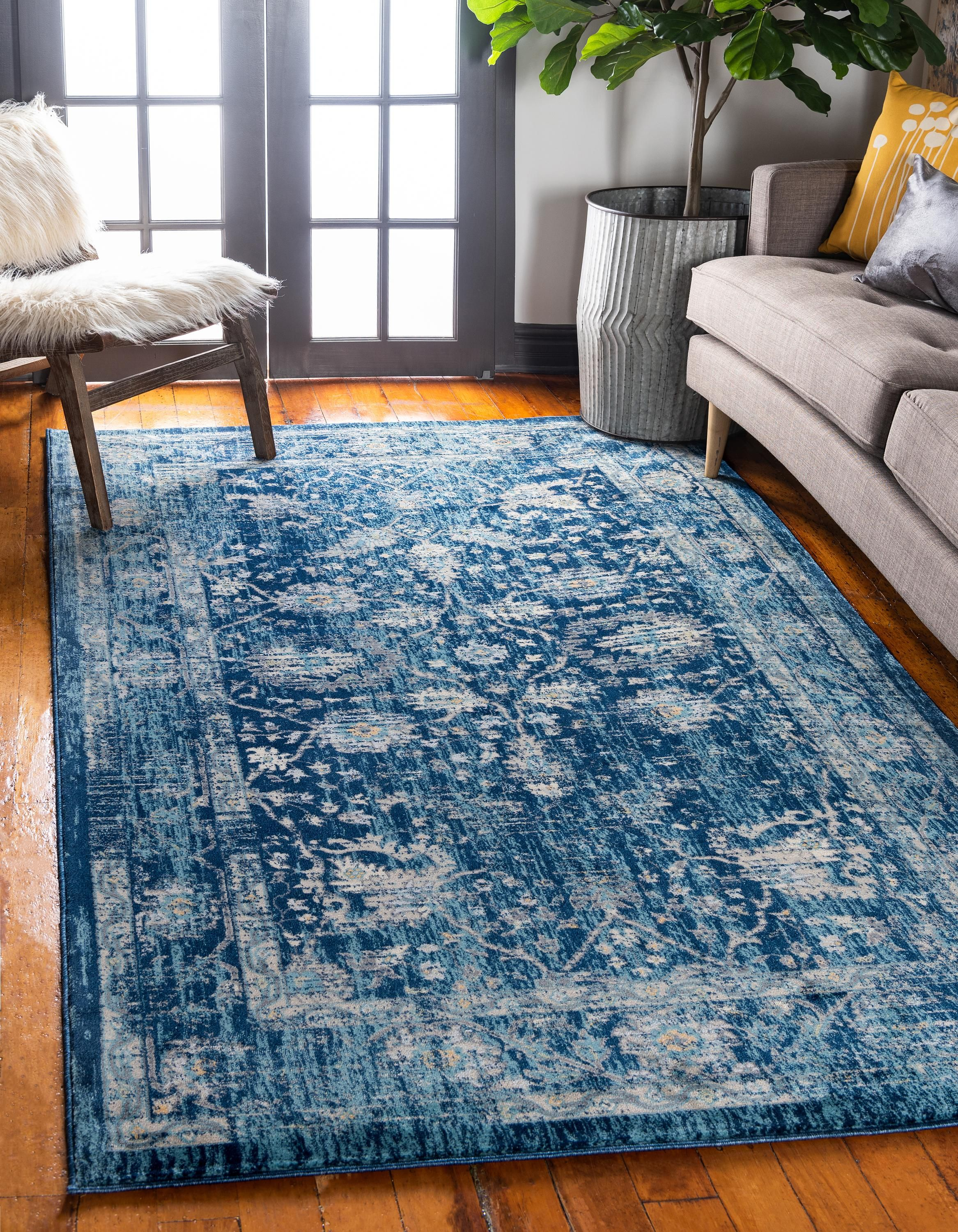 Navy Blue 8 X 11 4 Stockholm Rug Area Rugs Esalerugs Blue Rugs Living Room Rugs In Living Room Blue Area Rugs