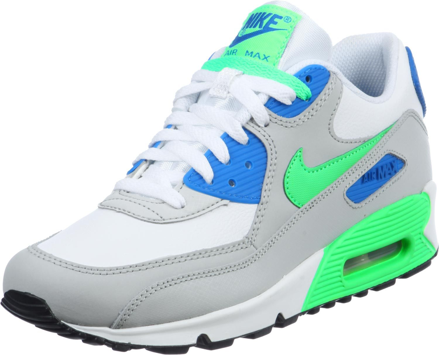nike air max 90 youth schuhe white green blue 1550 zoom 1500 1212 haben will. Black Bedroom Furniture Sets. Home Design Ideas