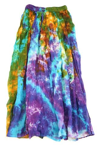 Handmade Rainbow Tie Dye Skirt Farben Und Hering