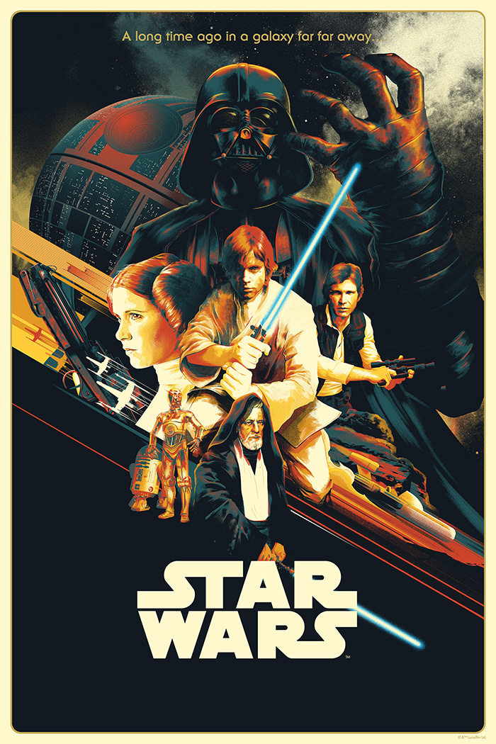 Star Wars Episode Iv A New Hope By Matt Taylor In 2020 Star Wars Painting Star Wars Movies Posters Star Wars Wallpaper