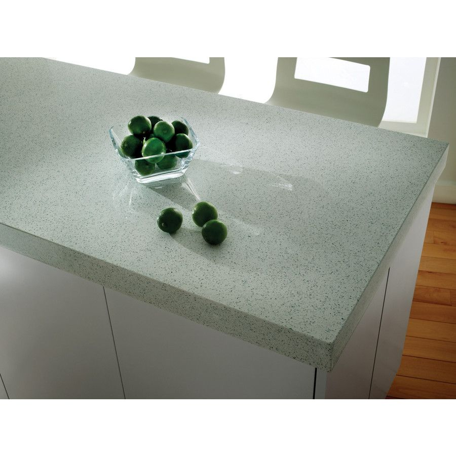 Shop ECO By Cosentino White Diamond Quartz Kitchen Countertop Sample At  Lowes.com