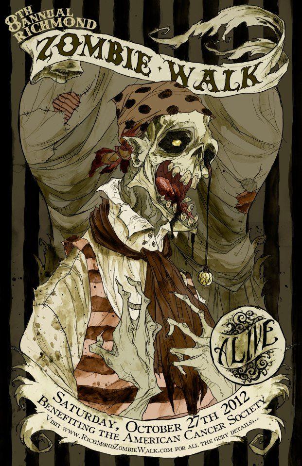 Abigail Larson Zombie walk, Zombie, Zombie art