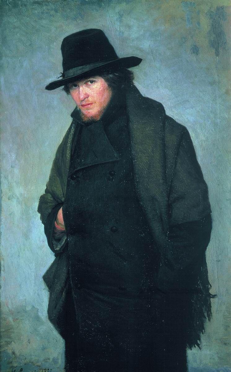 The Student, 1881 by Nikolai Alexandrovich Yaroshenko (Russian 1846 - 1898)