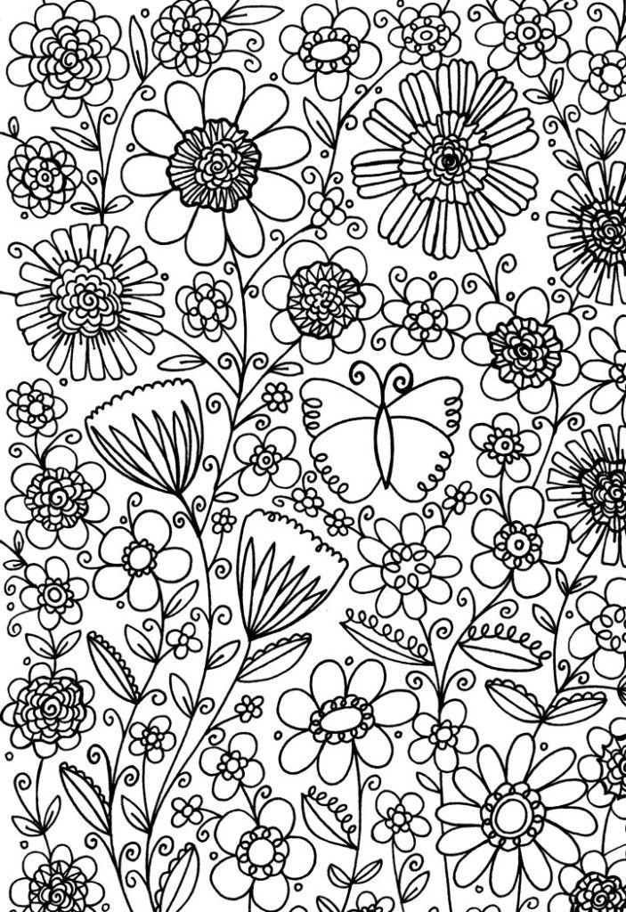 Flower Garden Free Pattern Download   Ausmalbilder, Windowcolor und ...