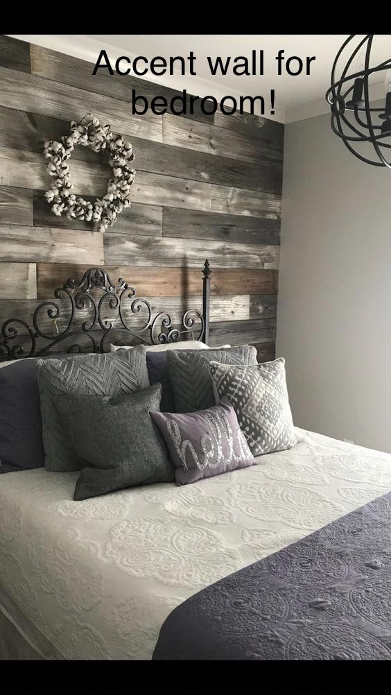 Love This Accent Wall It S Similar To Ky S Room But Wider Pieces In 2019 Home Bedroom Bedroom Decor Diy Home Decor