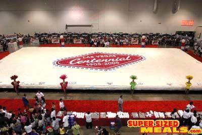 SupersizedMealscom The Worlds Largest Birthday Cake Www - The biggest birthday cake