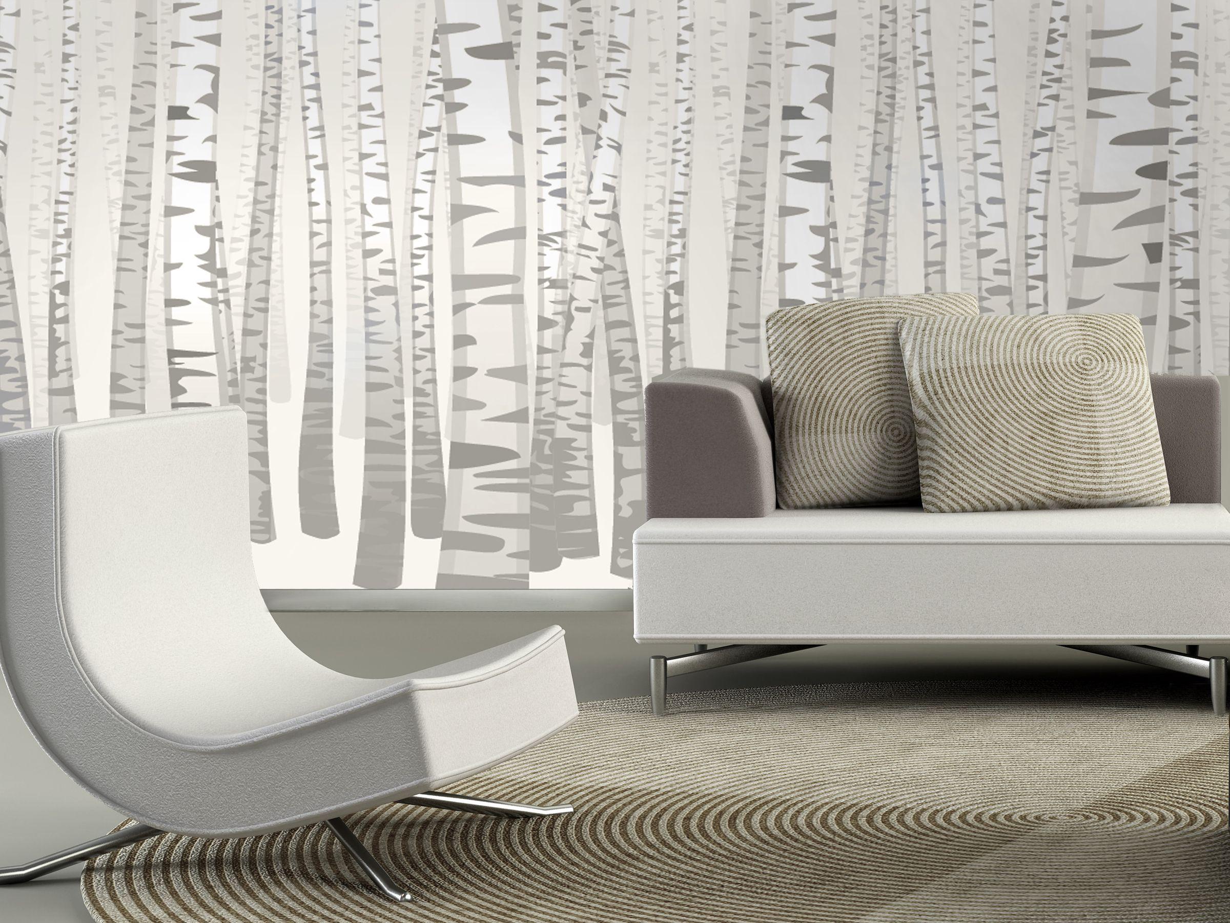 Zig Zag Tree Wallpaper Home Decor Interior Decorating Wall