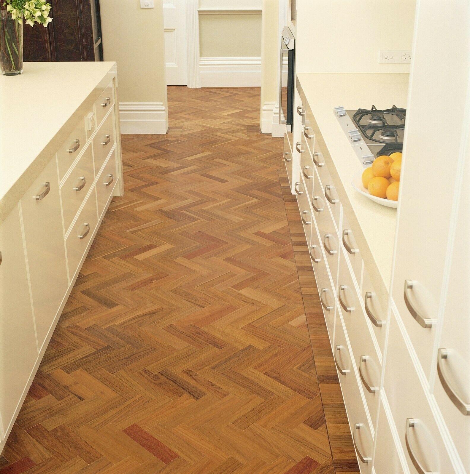 Herringbone Spotted Gum Engineered Hardwood Timber Floors