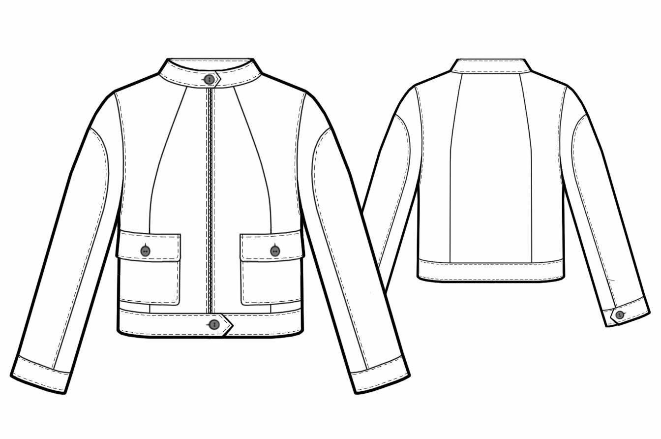 Sport-style Jacket - Sewing Pattern #5741. Made-to-measure sewing ...