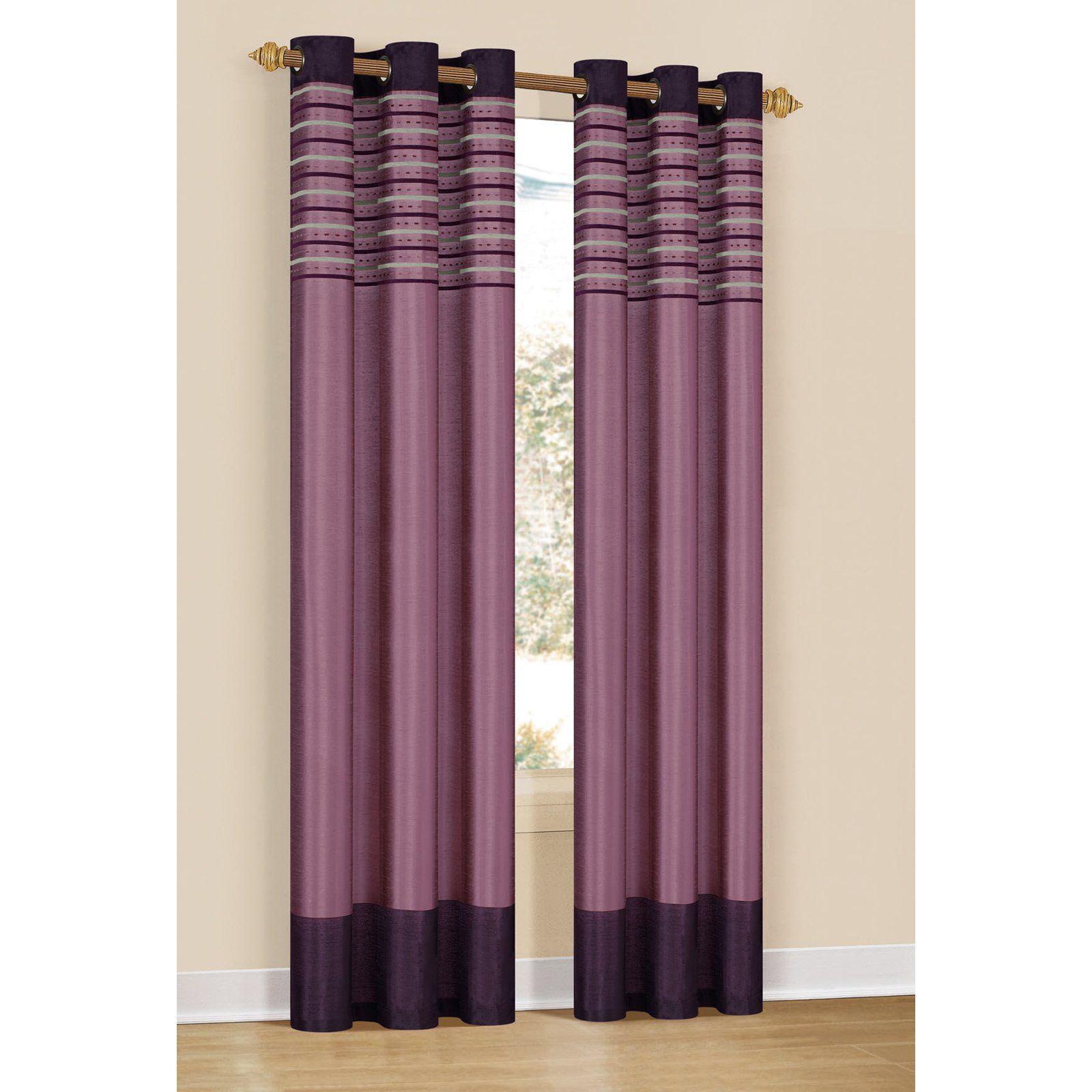 Duck River Cityscape Grommet Curtain Panel Pair Purple Dahlia