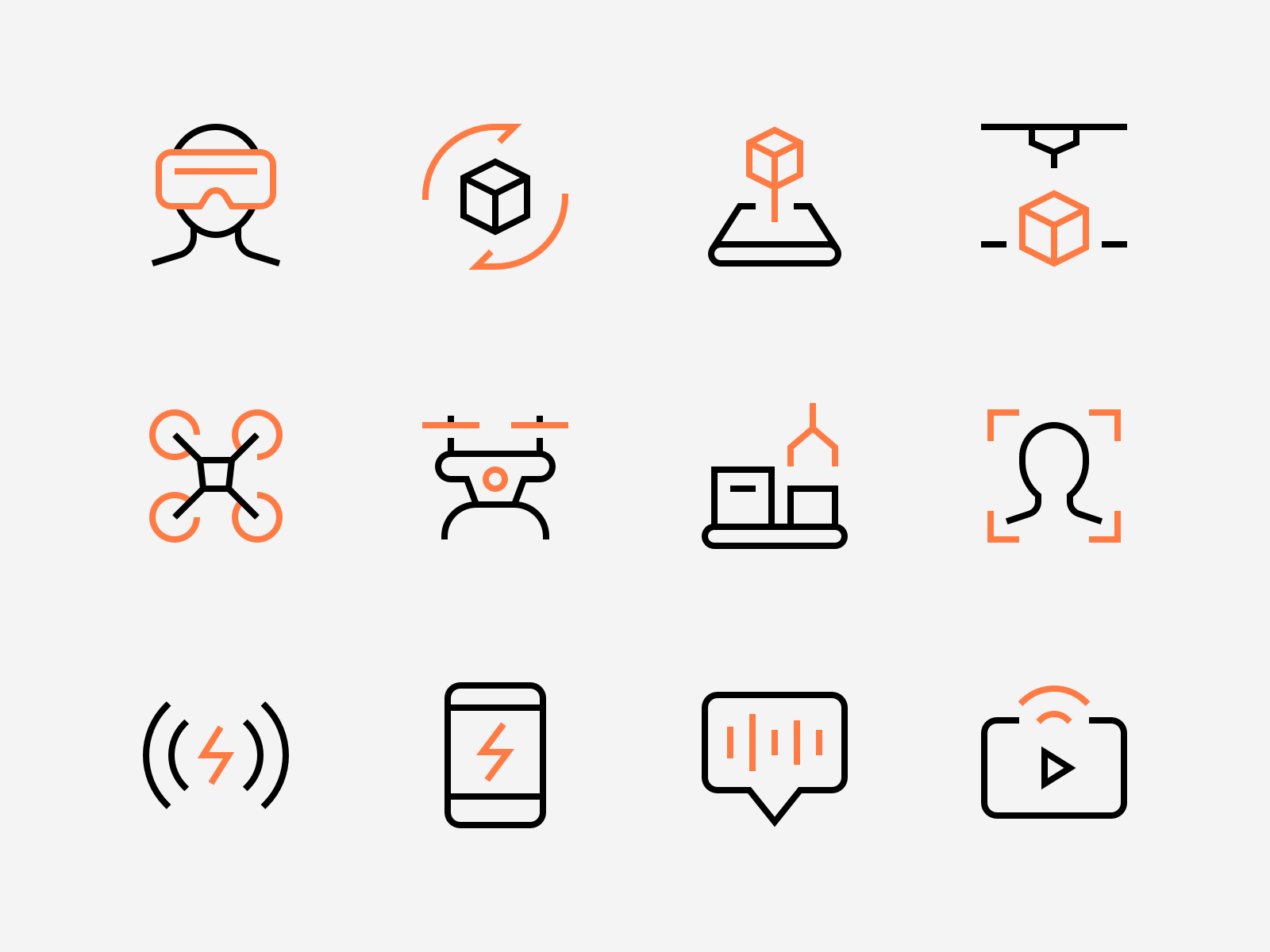 Technology Icons By Denis Rodchenko Technology Icon Best Icons New Technology Gadgets