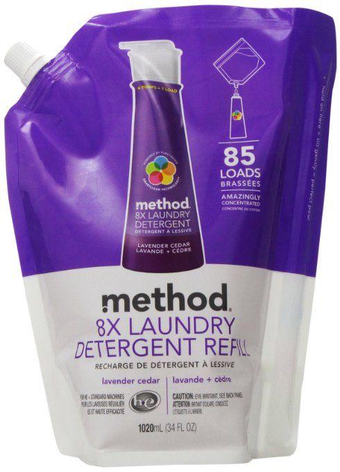 Method 8x Concentrated Laundry Detergent Lavender Cedar 85 Loads