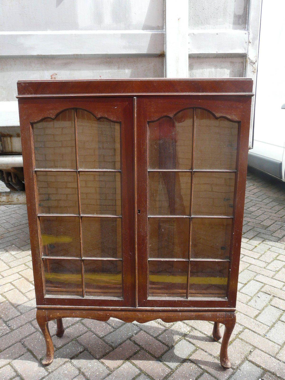Vintage wooden glass door cabinet on legs missing key ebay vintage wooden glass door cabinet on legs missing key ebay planetlyrics Images