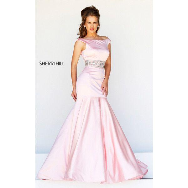 Off Shoulder Blush Sherri Hill 21277 Blush Prom Dress (€265 ...