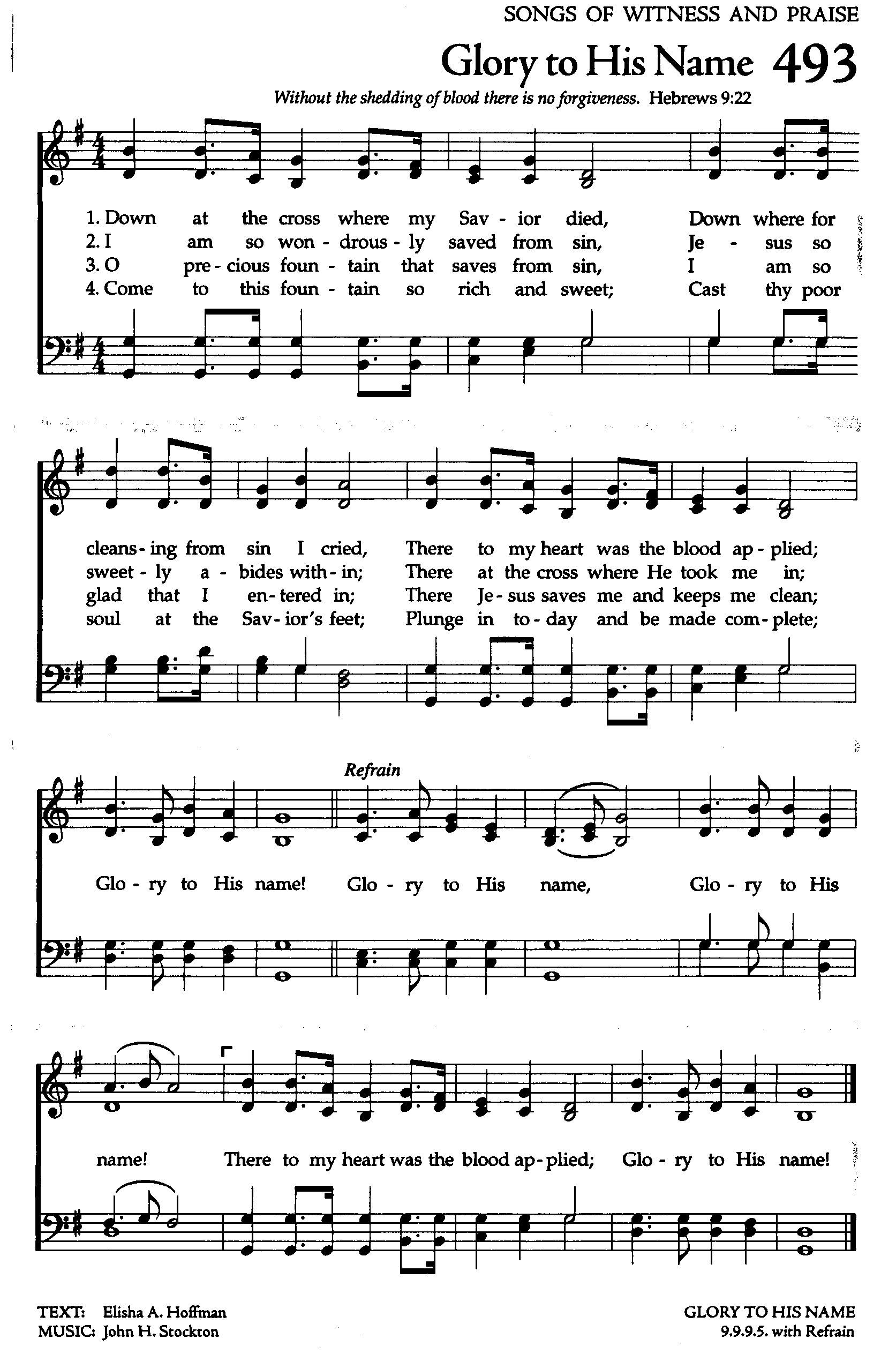 Glory to His Name  high (1673×2540) | Praise songs, Hymns of