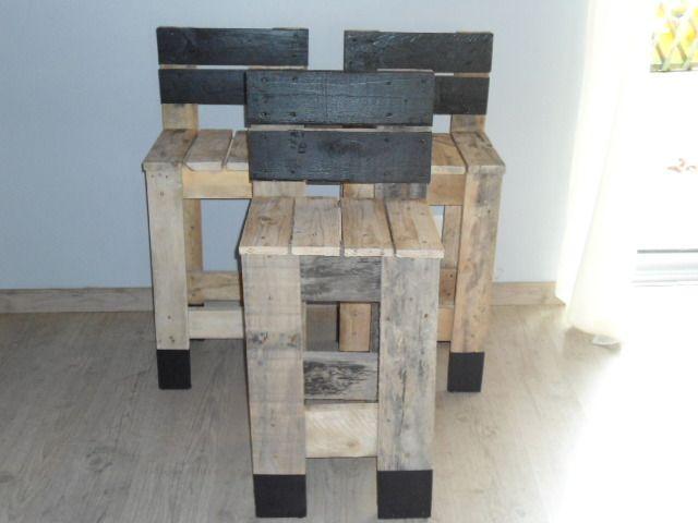 chaise de bar palette