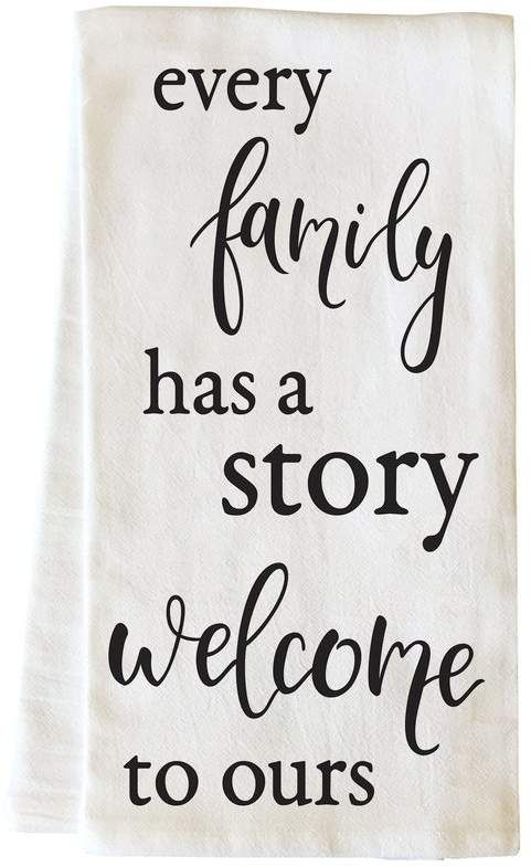 Red Barrel Studio Every Family Has a Story Hand Towel #handtowels