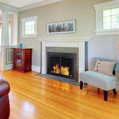 Ascot Fireplace Screen And Bi Fold Track Free Glass Door Fireplace