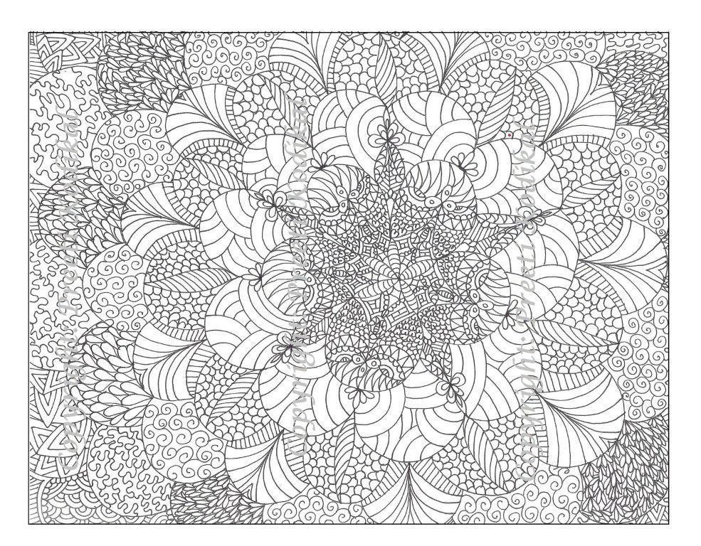 Best Complicated Printable Coloring Sheets Detailed Geometric