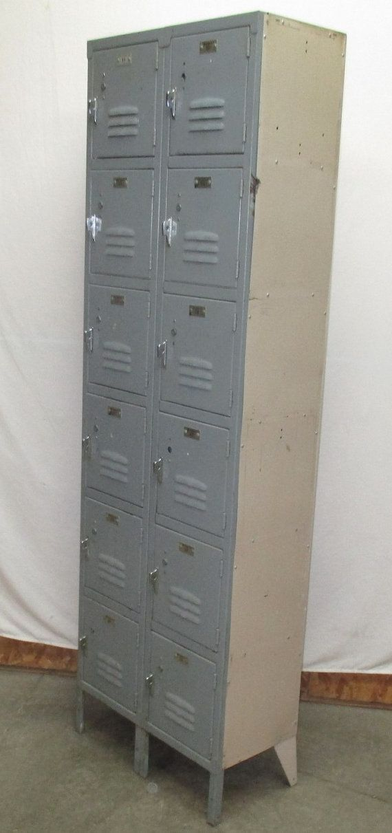 Medart 12 Door Metal Gym Locker Room School By Theoldgrainery