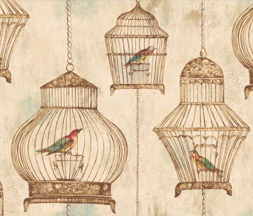 Pattern Of The Week Vintage Birdcages Jaima Company Vintage Bird Cage Birdcage Wallpaper Bird Cage Decor