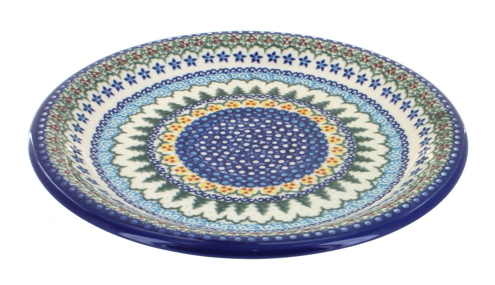Holiday Pine Dinner Plate Polish Pottery Handmade Polish Polish Ceramics