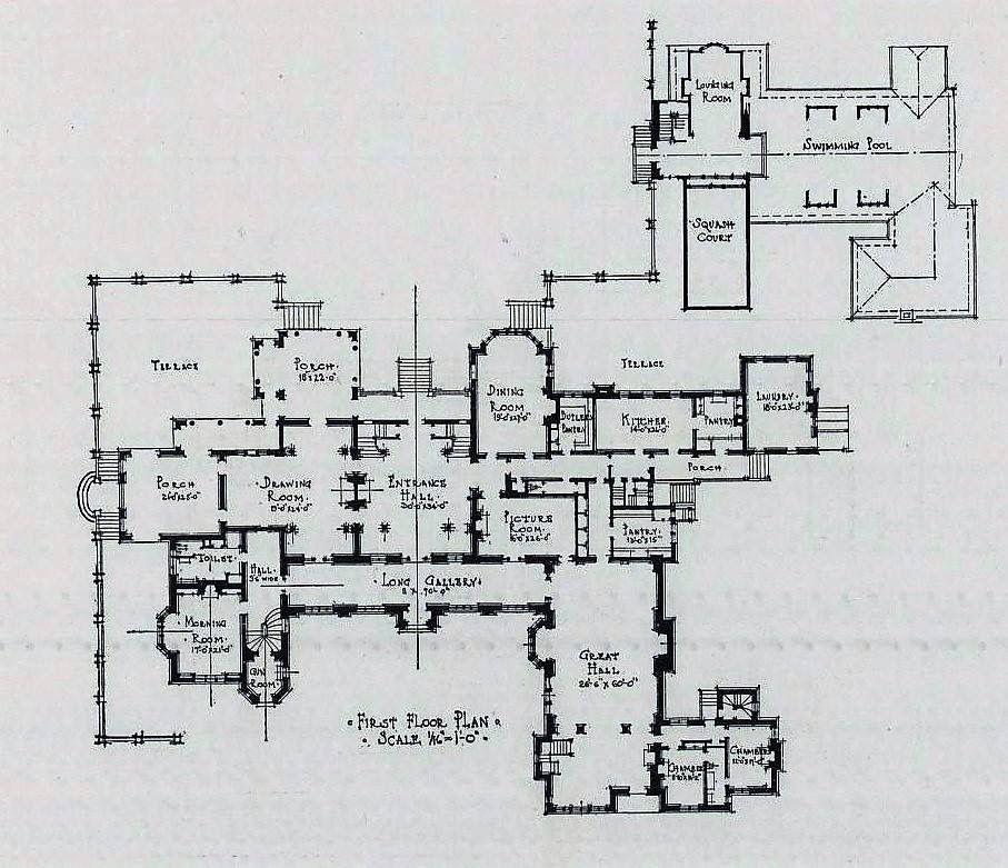 Farm Hill 1st Floor Architectural Floor Plans Mansion Plans Dream House Exterior