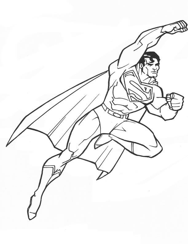 Free Printable Superman Coloring Pages For Kids | Colouring - Kids ...
