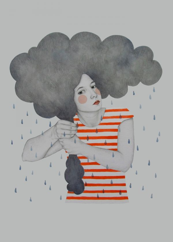 Amazing artwork by Sofia Bonati #rain #cloud