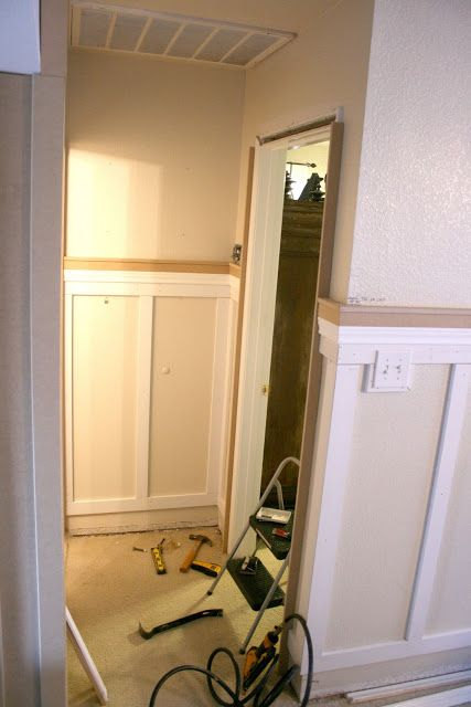 Wrap The Wainscotting Around The Corner Installing Wainscoting And Column Moldings Installing Wainscoting Wainscoting Room Update