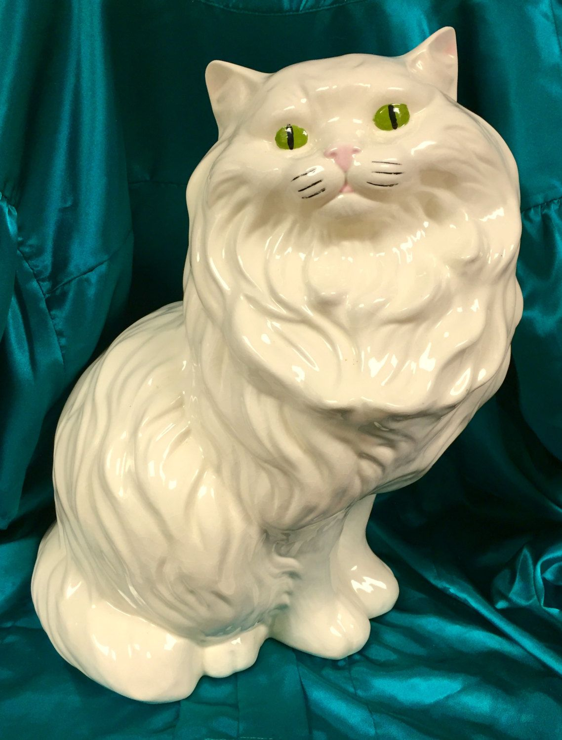 Collectors Limited Edition Vgc For Sale White Ceramic Cat-shaped Bowl Whiskers Official