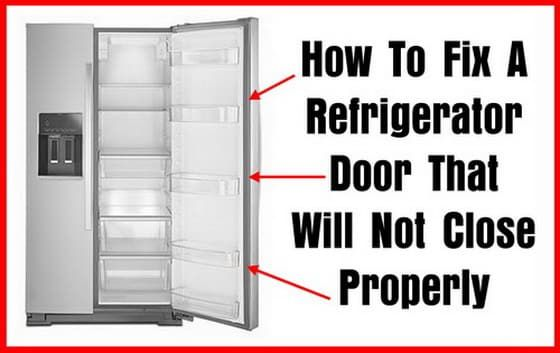 How To Fix A Refrigerator Door That Will Not Close Properly Refrigerator Fridge French Door Refrigerator Lg