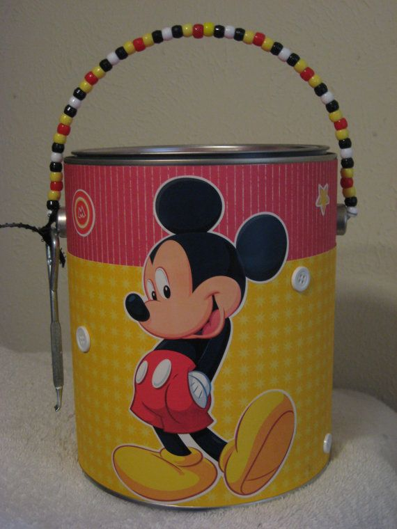 Mickey Mouse gift bag/time capsule/bucket list by TwoTxChix, $20.00