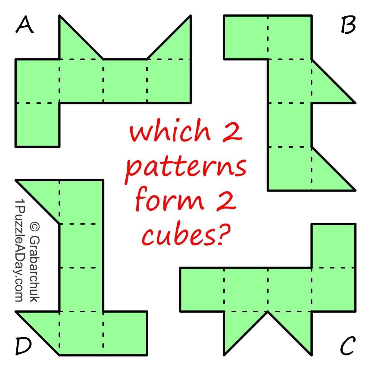 2 Cubes Math Models Pattern 11 Plus Exam [ 1201 x 1201 Pixel ]